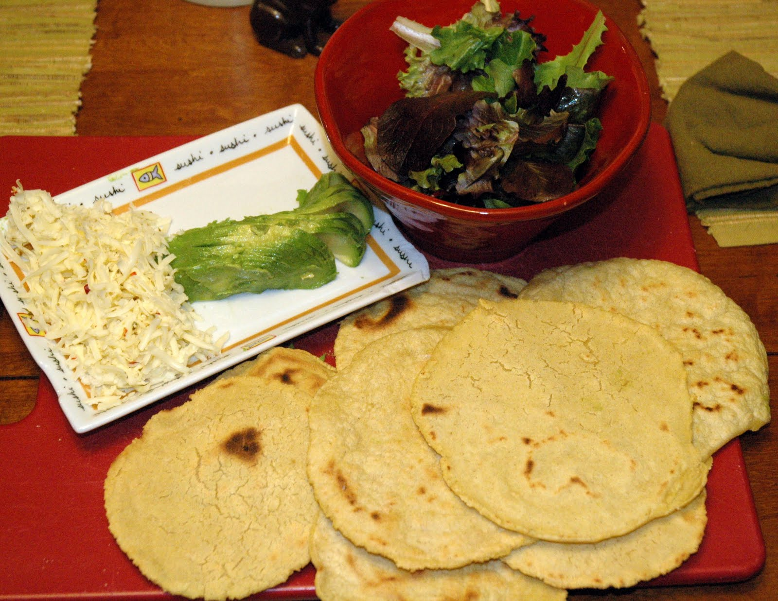 Finished Corn Tortillas ready to assemble