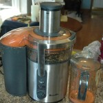 23 large carrots made about 25 fl. oz. of  juice