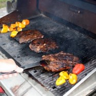 Stuffed Peppers, Flank Steak, Stuffed Mini Peppers & Layer Salad: Grilling on Location with Papabear
