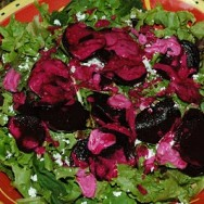 Balsamic & Honey Roasted Beet Salad with Goat Cheese
