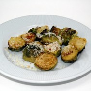 Roasted Brussels Sprouts with Brazil Nut Parm