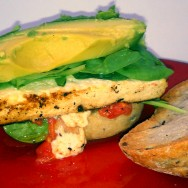 Quick Fix: Miso Lime Marinated Tofu Sandwich with Broiled Tomatoes & Avocado