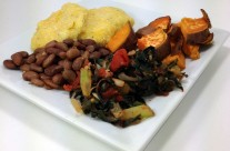 Sunday Night Supper: Nshima, Greens & Beans